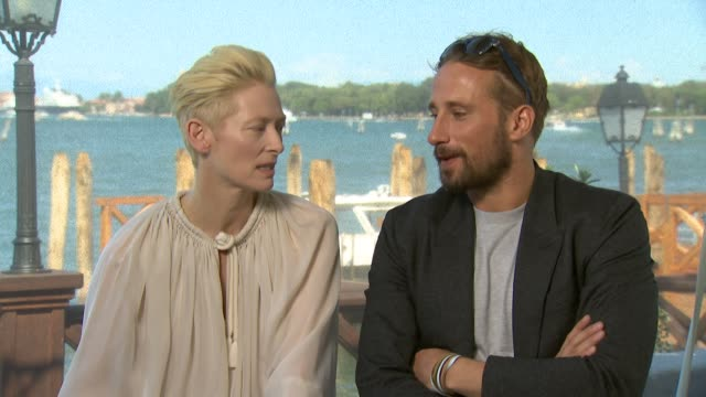 INTERVIEW Tilda Swinton Matthias Schoenaerts on Ralph Fiennes' dance on her character at 'A Bigger Splash' Interview 72nd Venice Film Festival on...