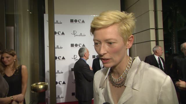 Tilda Swinton on being a part of the night and being the face of the brand what she thinks of the store what she appreciates about the brand her...