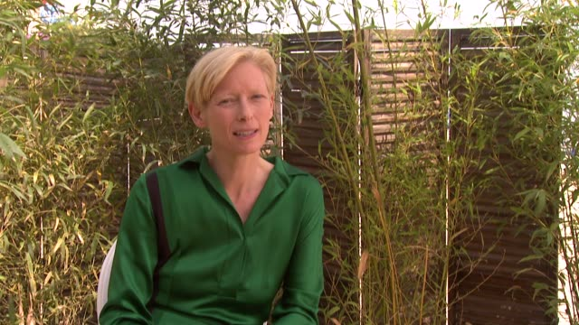 Tilda Swinton on being involved in the film and the process at the We Need To Talk About Kevin Interviews 64th Cannes Film Festival at Cannes