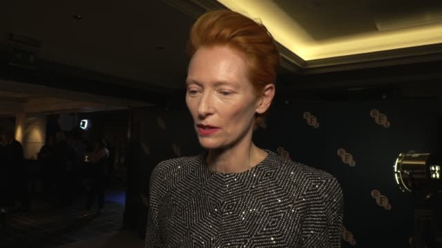 tilda swinton on the bfi and picking roles on march 02 2020 in london england - the times bfi london film festival stock videos & royalty-free footage
