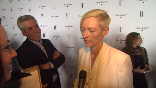 Tilda Swinton on what she thinks of her picture in the Best Performace portfolio being a fan of W magazine and making up names of people to route for...