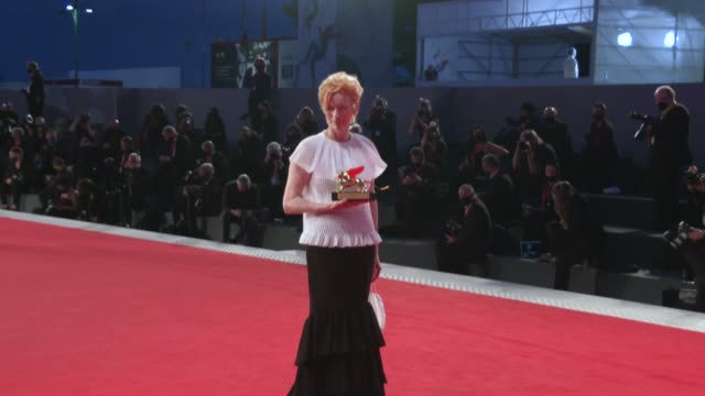 tilda swinton opening ceremony golden lion for lifetime achievement ceremony to tilda swinton, red carpet arrivals , 77th venice film festival at... - film award type stock videos & royalty-free footage
