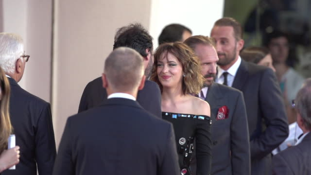 Tilda Swinton Ralph Fiennes Dakota Johnson Matthias Schoenaerts SLOMO at 'A Bigger Splash' Red Carpet 72nd Venice Film Festival at Palazzo del Cinema...