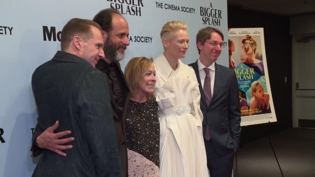 Tilda Swinton Ralph Fiennes Luca Guadagnino and David Kajganic at 'A Bigger Splash' New York Screening Presented By Fox Searchlight at MoMA Titus One...