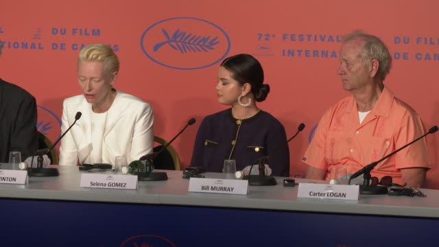 tilda swinton talks about her early relationship with horror films at 'the dead don't die' press conference the 72nd cannes film festival on may 15... - morning stock videos & royalty-free footage