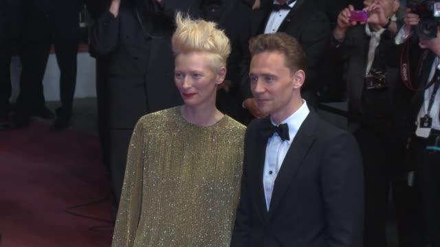 Tilda Swinton Tom Hiddleston at 'Only Lovers Left Alive' Red Carpet on 5/25/13 in Cannes France