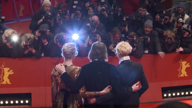 Tilda Swinton Wes Anderson Greta Gerwig at 68th Berlin Film Festival GIFs on February 15 2018 in Berlin Germany