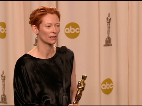 Tilda Swinton winner of the Best Supporting Actress award for 'Michael Clayton' at the 2008 Academy Awards at the Kodak Theatre in Hollywood...