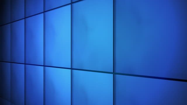 Tile Grid Wall Background Blue
