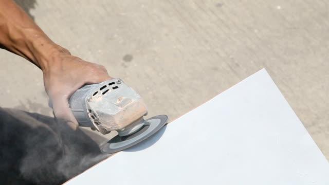 fliese titanbesatz. - fliesenboden stock-videos und b-roll-filmmaterial