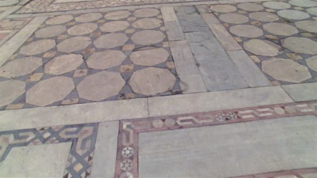 ms, ds, tiled floor in mosque courtyard, cairo, egypt - mosque stock videos & royalty-free footage