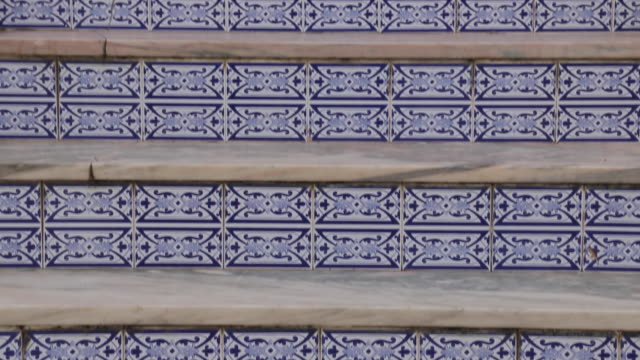 Tiled steps, Albufeira, Algarve, Portugal, Europe