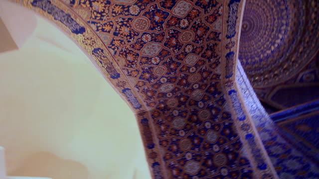 Tilla-Kori madrasah.The interior madrasah painted gold.