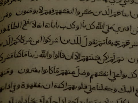 tilt down a page of arabic writing, venice, italy (sound available) - arabic script stock-videos und b-roll-filmmaterial