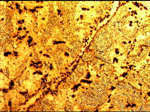 tilt down across a golden and black patterned piece of granite. - granite stock videos & royalty-free footage
