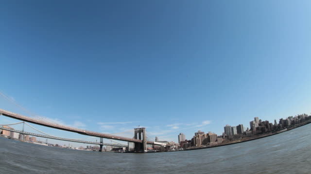 tilt down, bridge with city in background - tilt down stock videos & royalty-free footage