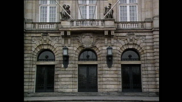tilt down exterior of government building in berlin; 1985 - 1985 stock videos & royalty-free footage