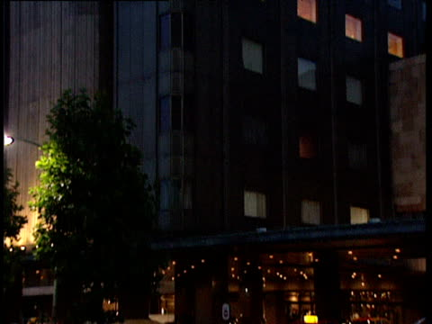 tilt down exterior of imperial hotel tokyo - 1991 stock videos and b-roll footage
