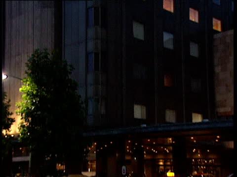 stockvideo's en b-roll-footage met tilt down exterior of imperial hotel tokyo - 1991