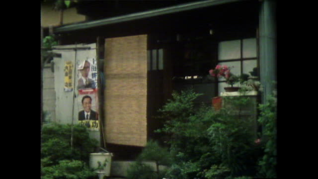 tilt down exterior of residential building in tokyo' 1981 - bamboo plant stock videos & royalty-free footage