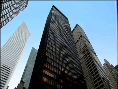 tilt down facade of seagram building manhattan - 2001 stock videos and b-roll footage