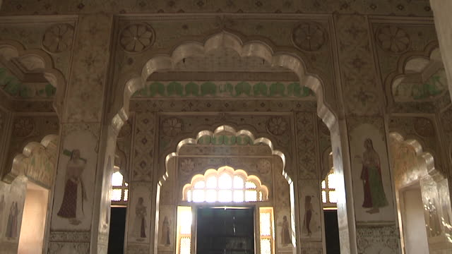 Tilt Down Interior Ahhichatragarh Fort Nagaur Rajasthan India