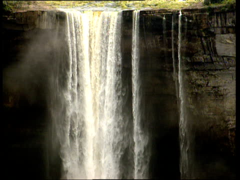 tilt down length of kaieteur falls guyana - guyana stock videos & royalty-free footage