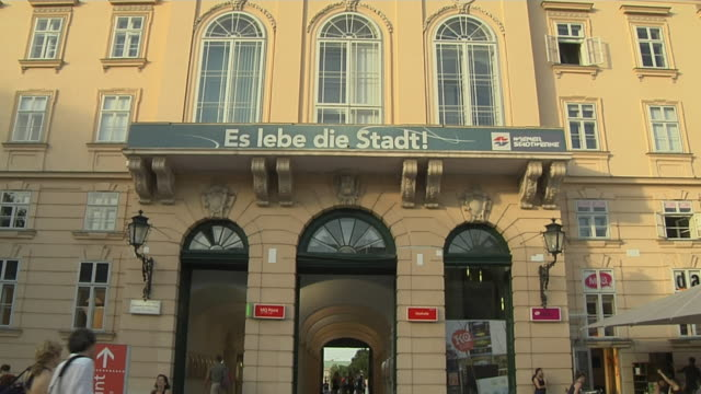 tilt down museumsquartier vienna austria - via dolorosa stock videos & royalty-free footage