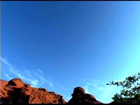 tilt down on rocky desert, valley of fire state park, nevada - tilt down stock videos & royalty-free footage