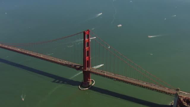 Tilt Down Over Golden Gate Bridge