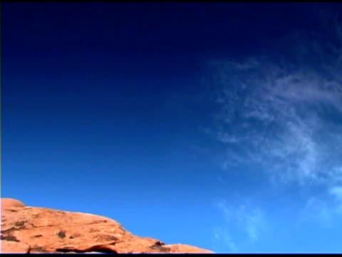 tilt down over rocky desert, valley of fire state park, nevada - tilt down stock videos & royalty-free footage