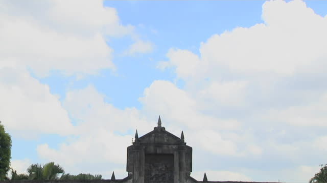 Tilt down shot Fort Santiago Manila Philippines
