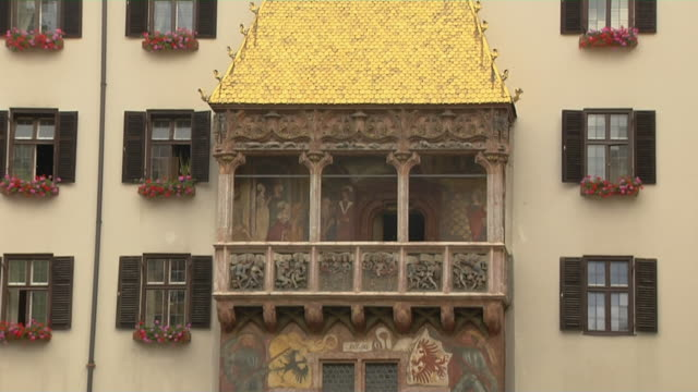 tilt down shot golden roof innsbruck tyrol austria - north tirol stock videos & royalty-free footage