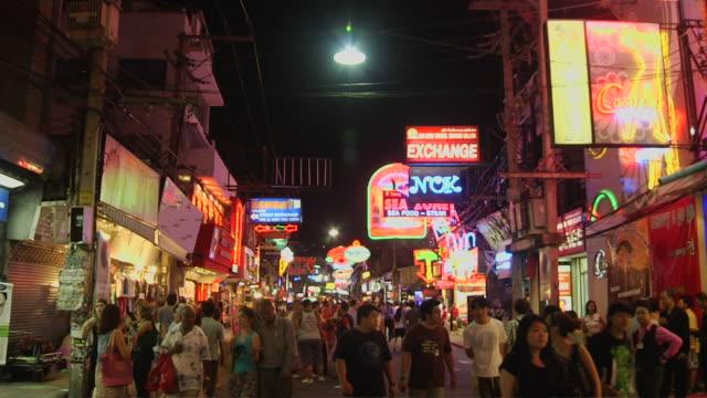 tilt down shot people pattaya chonburi thailand - chonburi province stock videos & royalty-free footage