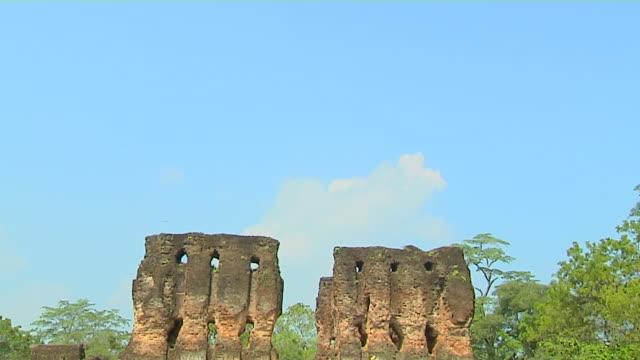 tilt down shot royal palace anuradhapura north central province sri lanka - sri lankan culture stock videos & royalty-free footage