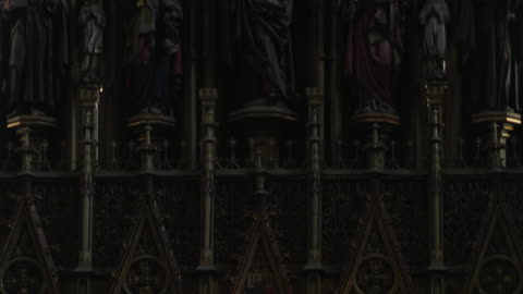 tilt down shot  st bartholomews cathedral pilsen west bohemia czech republic - czech republic stock videos & royalty-free footage