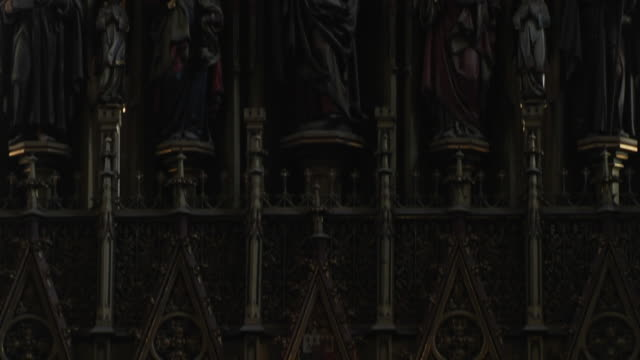 tilt down shot  st bartholomews cathedral pilsen west bohemia czech republic - czech republic stock videos & royalty-free footage