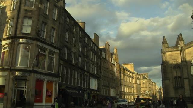Tilt Down Shot Street Edinburgh United Kingdom