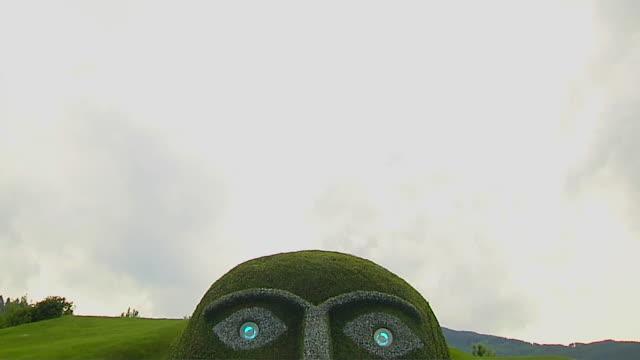 tilt down shot swavorski garden innsbruck tyrol austria - north tirol stock videos & royalty-free footage