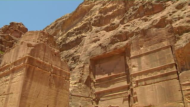 tilt down shot urn tomb petra maan jordan - decorative urn stock videos and b-roll footage