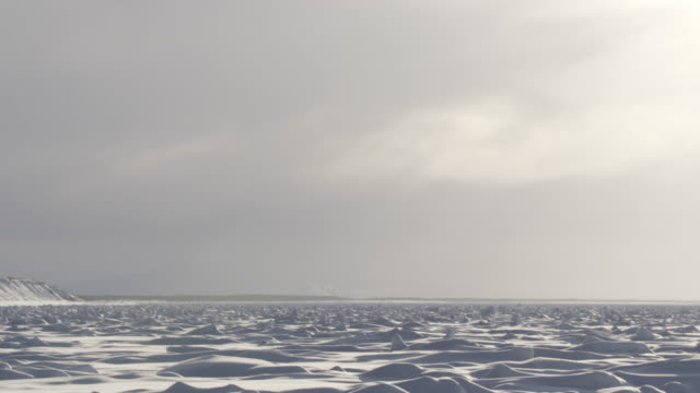 stockvideo's en b-roll-footage met tilt down to ridges of sea ice. - tilt down