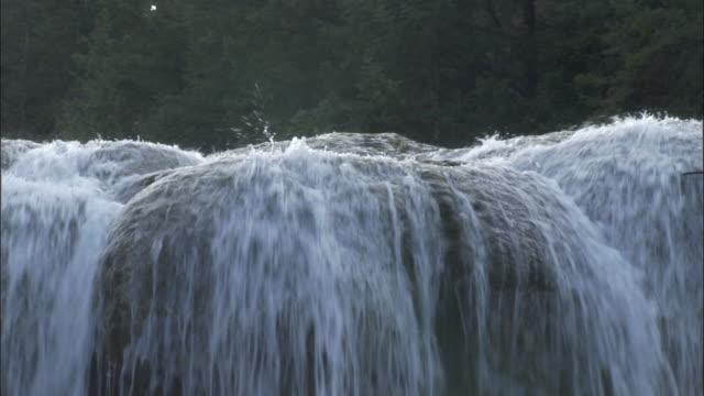 tilt down waterfall, jiuzhaigou, china - 四川省点の映像素材/bロール