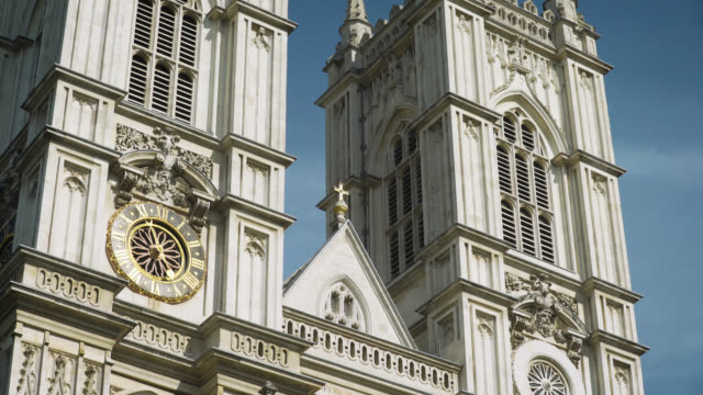 tilt down western facade of westminster abbey - female likeness stock videos & royalty-free footage