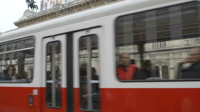 tilt establishing shot theatre - tram stock videos & royalty-free footage