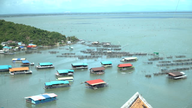 tilt form high angle view: koh yor village - songkhla province stock videos and b-roll footage