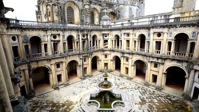 hd tilt: knights templar convents of christ tomar, lisbon portugal - portugal stock videos & royalty-free footage
