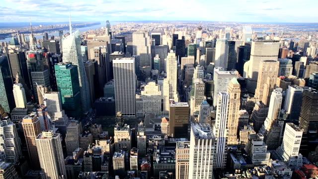 Inclinación HD:  La ciudad de Nueva York Skyline Vista aérea