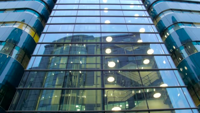 Tilt of Glass Building Front in London