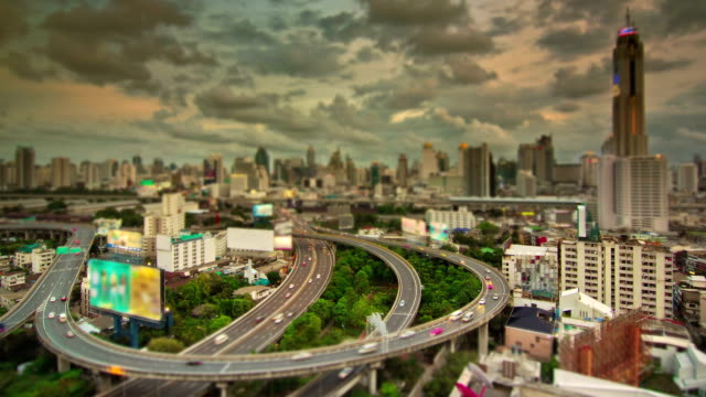 tilt shift of expressway and highway aerial view - tilt shift stock videos and b-roll footage
