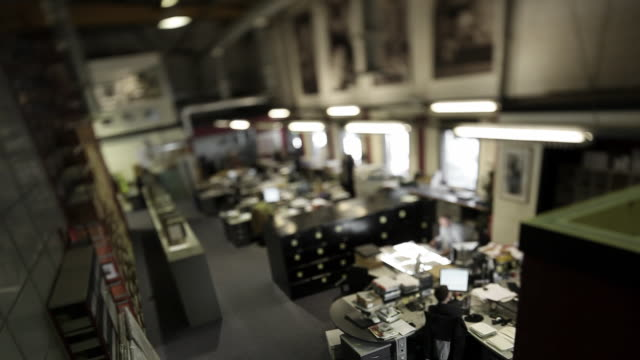 tilt shift office timelapse - librarian stock videos & royalty-free footage